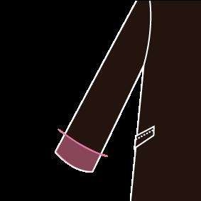 Ladies 袖丈(筒袖)※1