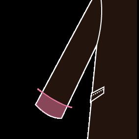 Mens 袖丈(筒袖)※1